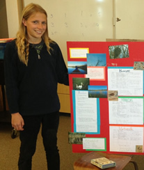 Amelia Pedersen with Science Project