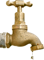 image of dripping brass faucet